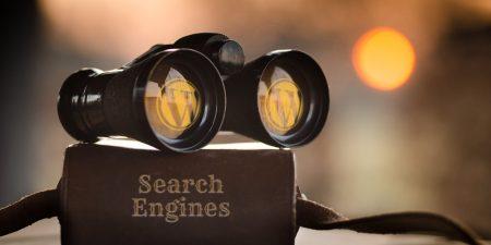 binoculars on book