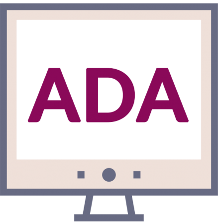 ADA on screen icon