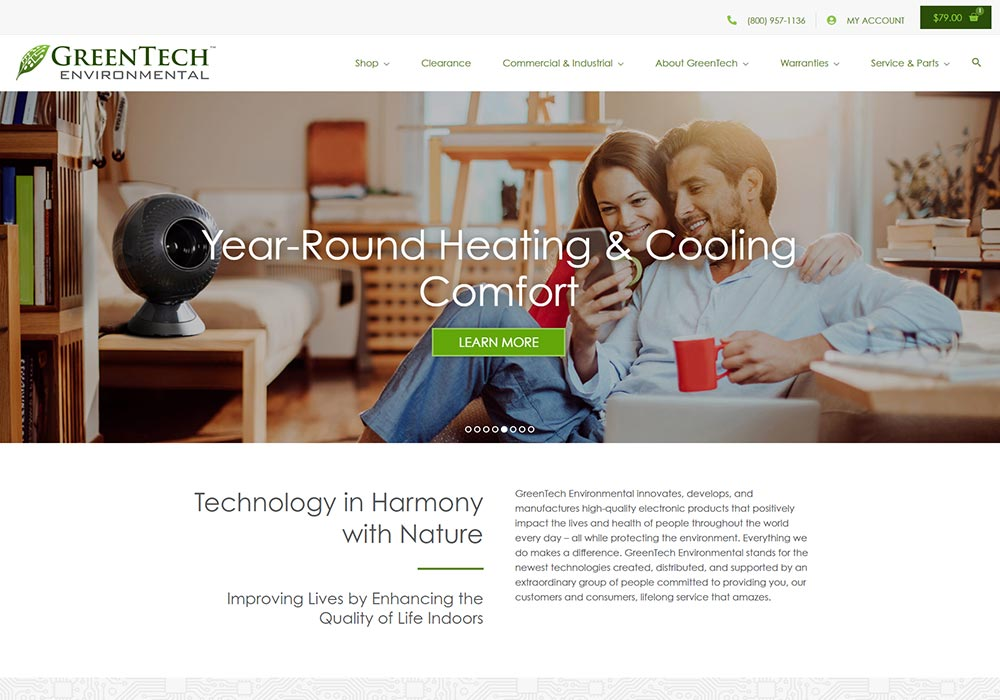 GreenTech Environmental homepage