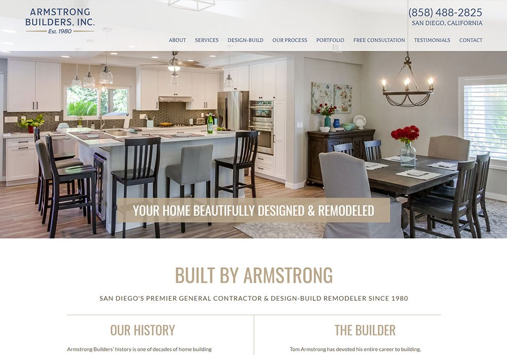 Armstrong Builders homepage