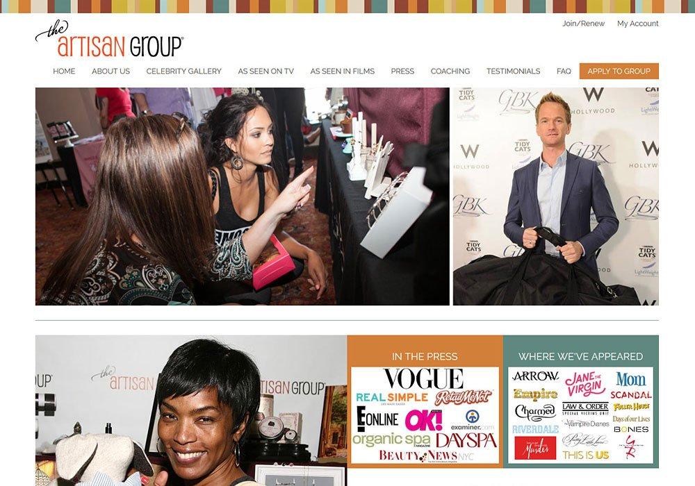 The Artisan Group homepage