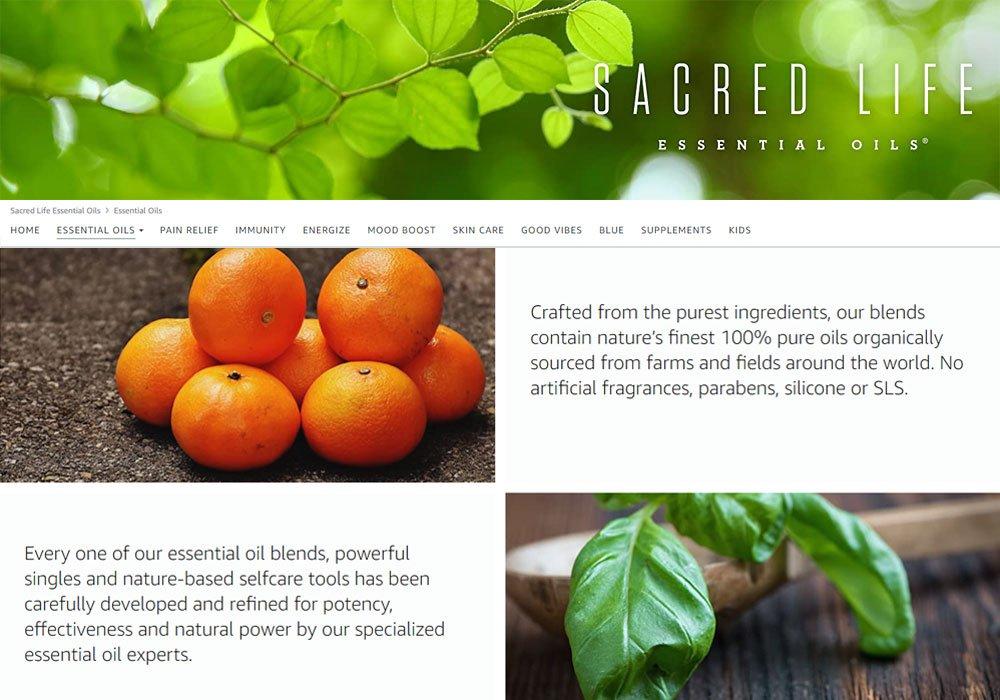 Sacred Life Oils Amazon Brand Store