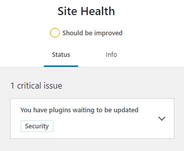 WordPress site health checker