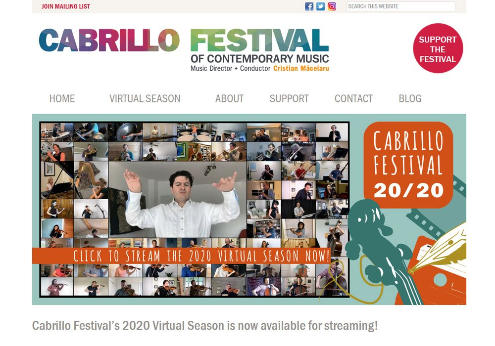 Cabrillo Music Festival homepage