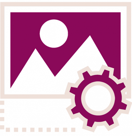 icon of image and gear