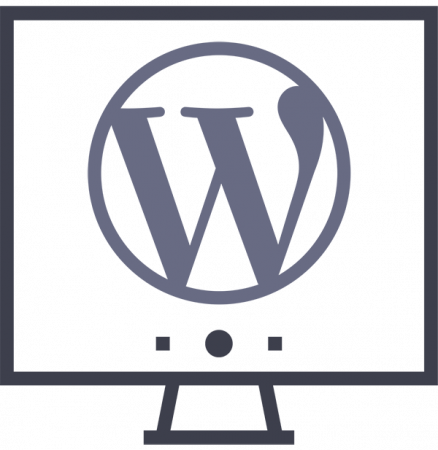 WordPress Logo on screen icon