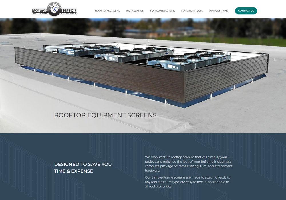 Cascade Rooftop Screens homepage