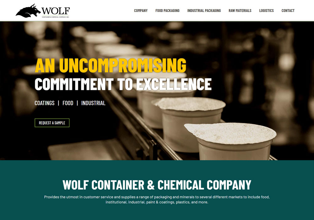 Wolf Container & Chemical Company homepage